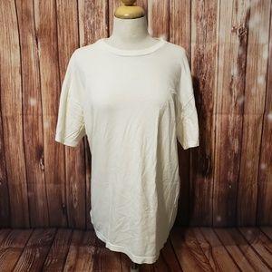 Vtg Hanes Plain White T Shirt